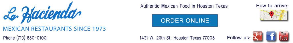 Mexican restaurant 713-880-0100 in Houston Texas La Hacienda